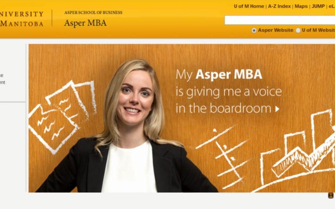 Asper School MBA