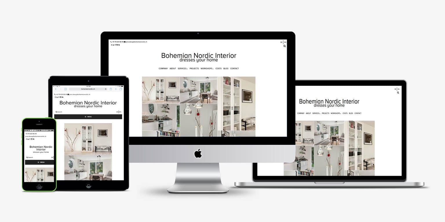 Bohmemian Nordic Interior | Web Development | Web Design